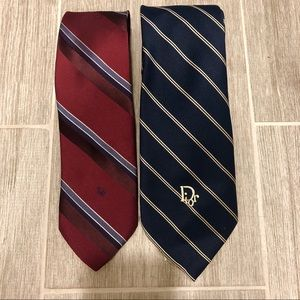 Two Authentic Christian Dior Ties